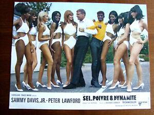 SAMMY DAVIS P. LAWFORD R.DONNER SEL,POIVRE... PHOTO D'EXPLOITATION 1968 21X27CM
