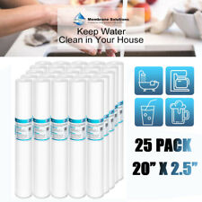 """25 Pack 20"""" x 2.5"""" 5 Micron Sediment Water Filter Industrial Household Prefilter"""