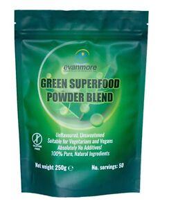 Green Superfood Powder Blend 250g/ 50 Servings Vegan & Vegetarian Friendly