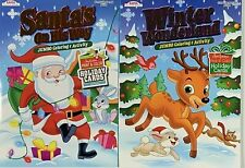 125 Page Christmas Jumbo Coloring & Activity Children Stocking Stuffers Lot of 2