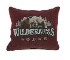 Disney Parks Authentic Wilderness Lodge Resort Bear Logo Hidden Mickey Pillow