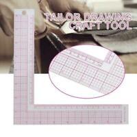 Plastic L-Square Shape Ruler Sewing Measure ruler Professional Tools Sewing S1U1