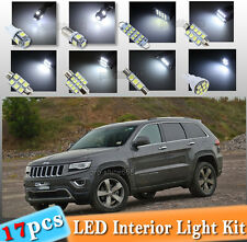 17-pc White LED Interior Light Bulbs Package Kit Fit 11-2014 Jeep Grand Cherokee