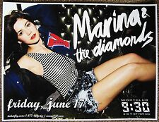 MARINA AND THE DIAMONDS 2011 Gig POSTER Washington DC Concert