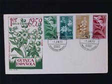 Guinea espanola FDC 1959 pro infancia plantas plants c6123