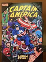 "Marvel Comic Wood Wall Art Captain America H 10.3/4"" W 7"" L1"""