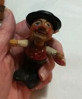 Vintage Anri Carved Jointed Man Arms and Head Move