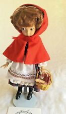 LITTLE RED RIDING HOOD DOLL Knowles Grimm Fairy Tales number w certificate Mint