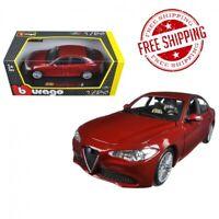 2016 Alfa Romeo Giulia Burgundy 1/24 Diecast Model Car by Bburago