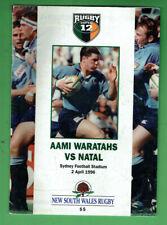 #Kk. Rugby Union Program - 2/4 1996, Nsw Waratahs V Natal