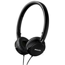 NEW PHILIPS FS3BK LIGHTWEIGHT FOLDABLE NOISE ISOLATING ON EAR HEADPHONES BLACK