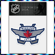 "Winnipeg Jets #1 NHL Die Cut Vinyl Sticker Car Bumper Window 2.6""x4"""