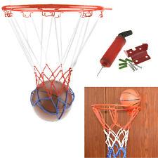 32Cm Junior Kids Wall Mounting Bracket Basketball Ring Hoop Net Handpump & Ball