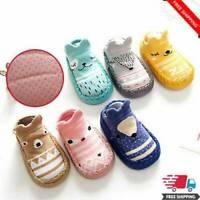 Cartoon Toddler Newborn Baby Girls Boys Anti-Slip Socks Slipper Shoes Soft Boots