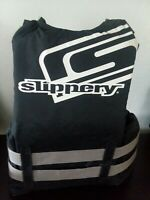 Womens SLIPPERY PFD SKI /WAKE BOARDING VEST BLACK GRAY small