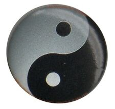 Yin Yang Tao Peace sign 1 inch Button Pin Badge Hippy Anarchist Punk etc