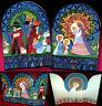 Age Standing Advent Calendar Christmas Nativity Scene 80er Bildfenster &