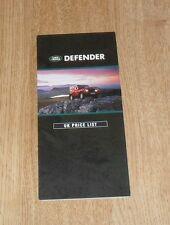 Land Rover Defender Price List 1991 - 90 110 130 Station Wagon