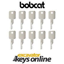 Bobcat Case Excavator Key (set of 10)  Skid Steer Excavator key D250