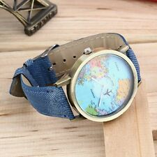 Design Mini World Map Watch Men Women Gift Watch