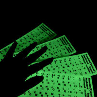 Different optional language waterproof fluorescent keyboard stickers TS