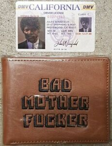 Pulp Fiction - (Made In USA) Bad Mother F*cker Wallet and Jules Driver License