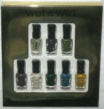 NEW 8 PC WET N WILD BEST OF MEGA LAST SALON NAIL COLOR MINI POLISH GIFT SET