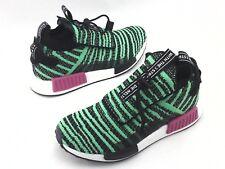 ADIDAS NMD Boost Running Shoes Green PK Knit Slip On B37628 Mens US 8 EU 41 1/3