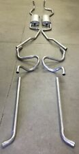 1961-1962 CADILLAC DUAL EXHAUST SYSTEM, ALUMINIZED WITHOUT RESONATORS