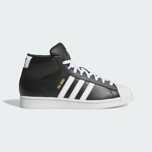 New Adidas Men's Originals Pro Model Shoes (FV4498)  Black//Cloud White-Cr White