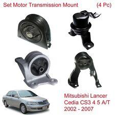 Set Engine Motor Trans Mount For Mitsubishi Lancer Cedia CS3 4 5 A/T 2002 - 2007