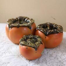 Kitagawa Kiln Porcelain Tomatoes Trinket Boxes - Set of 3: Repriced