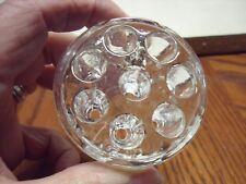 """Vintage Clear Glass Flower Arrangement/pencil holder Frog 8 Holes 2 1/2"""""""