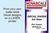 Decal Paper Clear A4 Size LASER Print N104-5 (5 Sheets)