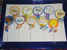 36 Graduation 2018 Personalized Party Favors Oh the Places You Go Swirl Lollipop