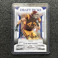 Clay Mathews Rookie Auto 2009 Prestige Draft Picks Signed RC Packers /399