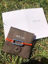 Bracelet Orange Fluo Argent Maillon XL Dinh van
