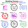 Wedding Rubber Stamps Round Name Save the Date Invitation Return Address Stamper