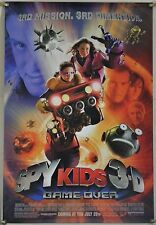 SPY KIDS 3D GAME OVER DS ROLLED ORIG 1SH MOVIE POSTER SYLVESTER STALLONE (2003)