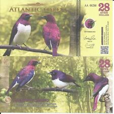 ATLANTIC FOREST BILLETE 28 AVES DOLLARS 2016