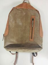 """Volkano Punk Series Backpack 15.6"""" Laptop Compartment Tan Faux Leather NWT"""