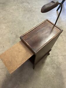 Antique Wooden Telephone Stand with Space For Directory or Books