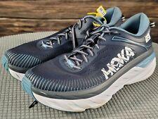 Hoka One One Mens Bondi 7 1110518 OBPB Ombre Blue Running Shoes Lace Up Sz 12