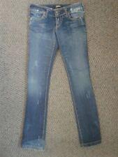"Serfontaine Mezzanine Boot Cut Blue Jeans Destroyed Look Sz 29 Inseam 33"""