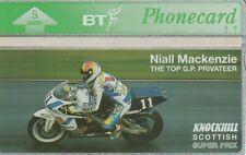 BT Phonecard, BTG384  Scottish Superprix Niall MacKenzie, unused