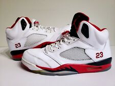 "Nike Air Jordan 5 V Retro ""Fire Red"" 2013 release (136027-120) Mens Size 13"