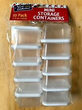 2.3 oz Containers Salad Dressing Plastic for Crafts Mini Tupper ware Storage 10
