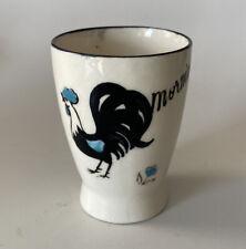 Vintage Rooster Egg Cup Good Morning