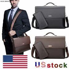 HANI BOLO Mens Business Shoulder Bag Briefcase Laptop Bag Satchel Purse Handbag