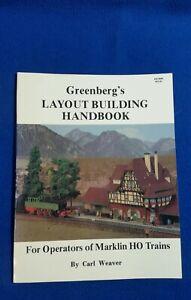 Marklin HO Greenberg's Layout Building Handbook Carl Weaver RARE